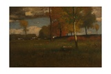 Near the Village, October, 1892 Giclee Print by George Snr. Inness