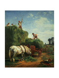 Haymaking at Kingweston Giclee Print by W.h. Hopkins