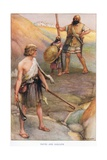 David and Goliath Giclee Print by Arthur A. Dixon