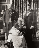 Queen Victoria (1819-1901) with the Prince of York on Her Knees, the Prince of Wales on Her Left… Photographic Print by W. And D. Downey