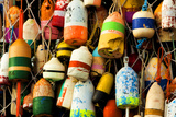 Buoys on a Wall at Apalachicola, Florida, USA Photographic Print by Joanne Wells