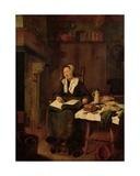 Woman Asleep in a Chair Giclée-Druck von Quiringh Gerritsz. van Brekelenkam
