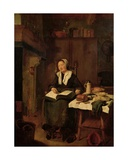 Woman Asleep in a Chair Giclee Print by Quiringh Gerritsz. van Brekelenkam