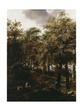 A Road Through a Wood, 1640s Giclee Print by Nicolaes Pietersz. Berchem