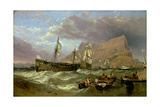 The 'Victory' Towed into Gibraltar, 1854 Giclee Print by Clarkson R.A. Stanfield