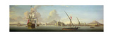 An Extensive View of the Port of Alexandria with a British Man O'War at Anchor Giclee Print by J. Cook