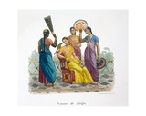 Wife of a Rajah, 1827-35 Giclee Print by M.E. Burnouf
