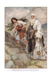 Abraham and Isaac Going Up the Mountain Giclee Print by Arthur A. Dixon
