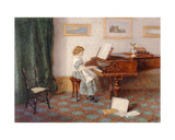 At the Piano, 1876 Giclee Print by Esther H. Jones