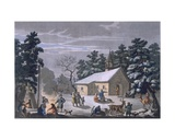 Samoyeds at a Nighttime Fair at Obdorsk, 1812-13 Giclee Print by E. Karnejeff