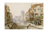 High Street, Salisbury, 1870 Giclee Print by Louise J. Rayner