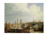 The Opening of London Bridge by William IV, 1831 Giclee Print by Clarkson R.A. Stanfield