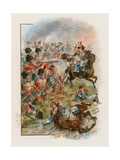 Square of the 42nd Highlanders Charged by French Cuirassiers at Quatre Bras, 16 June 1815 Giclee Print by Henry A. Payne