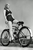Bicycle Pinup Girl Poster Prints