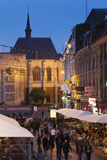 Cafes and Crowds at Dusk, Grand Place, Lille, French Flanders, France Photographic Print by Walter Bibikow