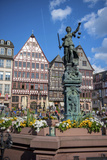Old City Center Market, Fountain, Frankfurt, Hessen, Germany Photographic Print by Jim Engelbrecht