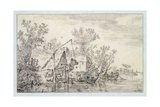 A Wooded River Landscape, 1653 Giclee Print by Jan Josephsz. Van Goyen