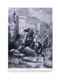 The Siege of Chaluz (Richard I Fatally Wounded), 1920's Giclee Print by Henry A. Payne