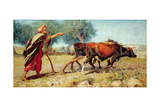 Ploughing, Mt. Sion, 1863 Giclee Print by William J. Webbe Or Webb