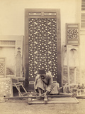 Wood Turning, Egypt, C.1870-90 Photographic Print by G. Lekegian