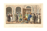Tom, Jerry and Logic Visiting Condemned Prisoners at Newgate Prison, from 'Life in London' by… Giclee Print by I. Robert & George Cruikshank