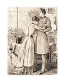 My Darling Girl Giclee Print by George L. Du Maurier
