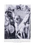 Building Alfreds Fleet, 1920's Giclee Print by A.r. Mileham