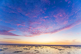 Sunrise over the Sea, Beaufort Sea, ANWR, Alaska, USA Photographic Print by Steve Kazlowski