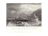 Fishing Boats in the Monsoon Giclee Print by Captain Robert M. Grindlay