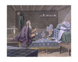 A Persian Doing His Morning Prayers, 1812-13 Print by E. Karnejeff