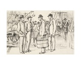 Meeting at a Port Giclee Print by George L. Du Maurier