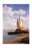 Fishing Craft with the Rivere Degli Schiavoni, Venice, Beyond Giclee Print by E. Aubrey Hunt