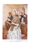 Singing in the Village Choir Giclee Print by Arthur A. Dixon