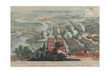 A View of the Glorious Action of Dettingen, 16th-27th June 1743, Engraved by I. Pano, Published… Giclee Print by F. Daremberg