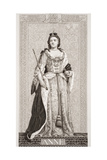 Queen Anne (1665-1714) from 'Illustrations of English and Scottish History' Volume II Giclee Print by J.l. Williams