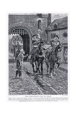 Henry Throws Becket's Cloak to a Beggar Ad1117, 1920's Giclee Print by Henry A. Payne