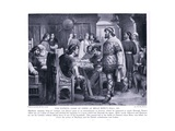 The Fateful Game of Chess at Brian Boru's Hall Ad1013, 1920's Giclee Print by M. Mackinlay