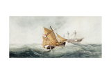 Approaching the Wreck, 1837 Giclee Print by Clarkson R.A. Stanfield