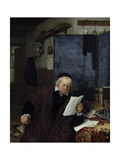 Lawyer in His Study Giclee Print by Adriaen Jansz. Van Ostade