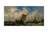Ships at Sea, 1846 Giclee Print by Clarkson R.A. Stanfield