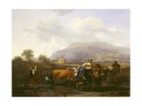 Travelling Peasants (Le Soir), C.1655-59 Giclee Print by Nicolaes Pietersz. Berchem