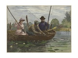Fishing on the Norfolk Broads Giclee Print by Charles J. Staniland