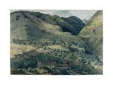 Ravine and River at St. Denis, Bourbon, 1814 Giclee Print by T. Bradshaw