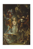 A Fantasy Based on Goethe's 'Faust', 1834 Giclee Print by Theodor M. Von Holst