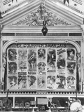 Cafe-Concert 'Les Ambassadeurs', the Stage Curtain with Posters by Jules Cheret (1836-1932)… Photographic Print by H. Mairet