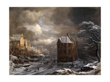 View of the Hekelveld, Amsterdam, in Winter, Looking South Giclee Print by Jacob Isaaksz. Or Isaacksz. Van Ruisdael