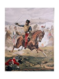 Lord Cardigan (1797-1868) Leading the Charge of the Light Brigade at the Battle of Balaklava,… Giclee Print by Henry A. Payne