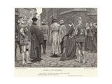 "Richard II and the Queen, ""Richard II,"" Act V, Scene I Giclee Print by J.M.L. Ralston"