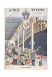 The Departure of Emigrants from Le Havre, Front Cover of a Schoolbook Giclee Print by G. Dascher