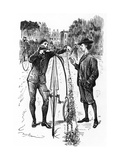 The Line of Beauty, Cartoon in 'Punch', Published December 9 1879 Giclee Print by George L. Du Maurier
